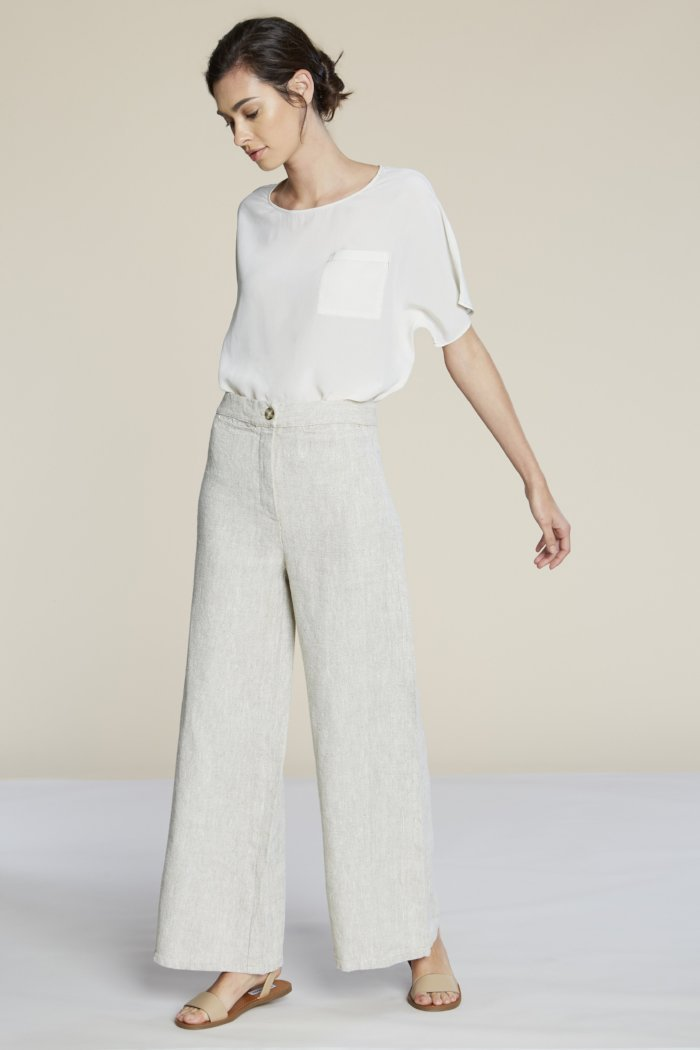 pipe and row filo sophia lexi wed leg linen pants sustainable fashion