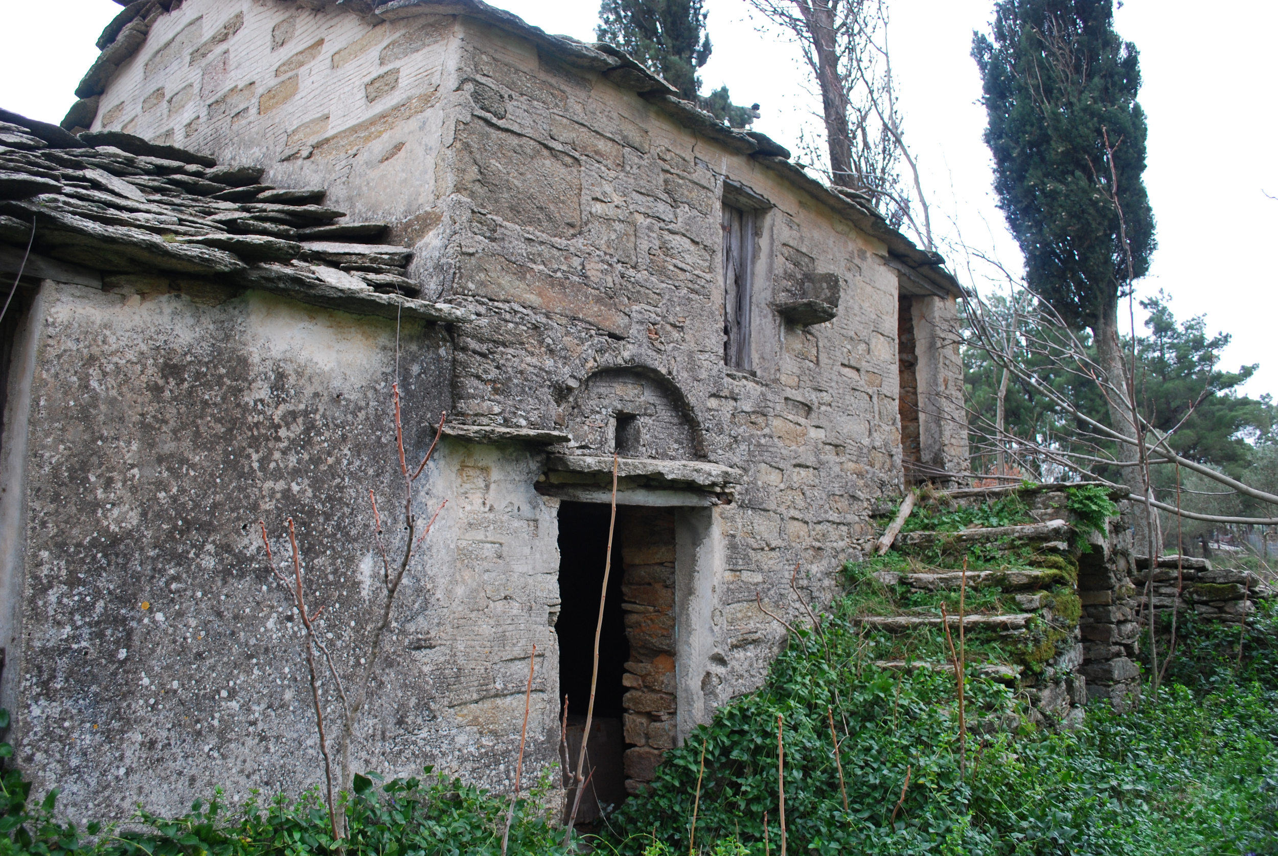 Old house structure on Ikaria