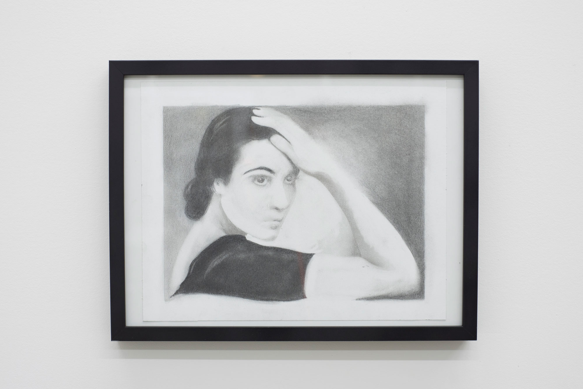 Copy of a Copy of a Copy of a Copy: Delores Del Rio (for A), graphite and toner on paper, 2018