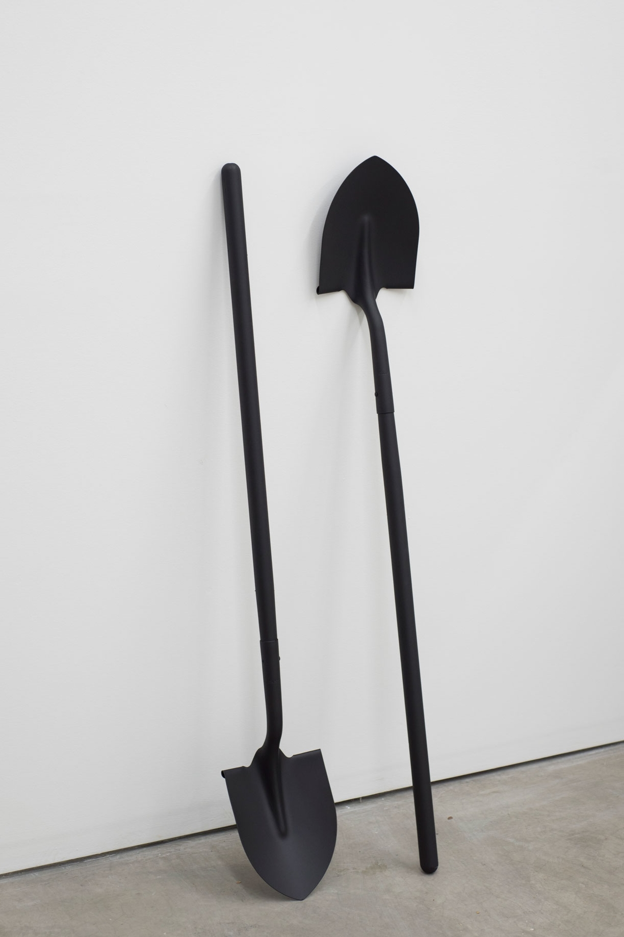 Pick Up Heaven (for M), shovels, paint, 2017