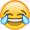 """Face with Tears of Joy"" emoji. Oxford Dictionaries 2015 word-of-the-year"