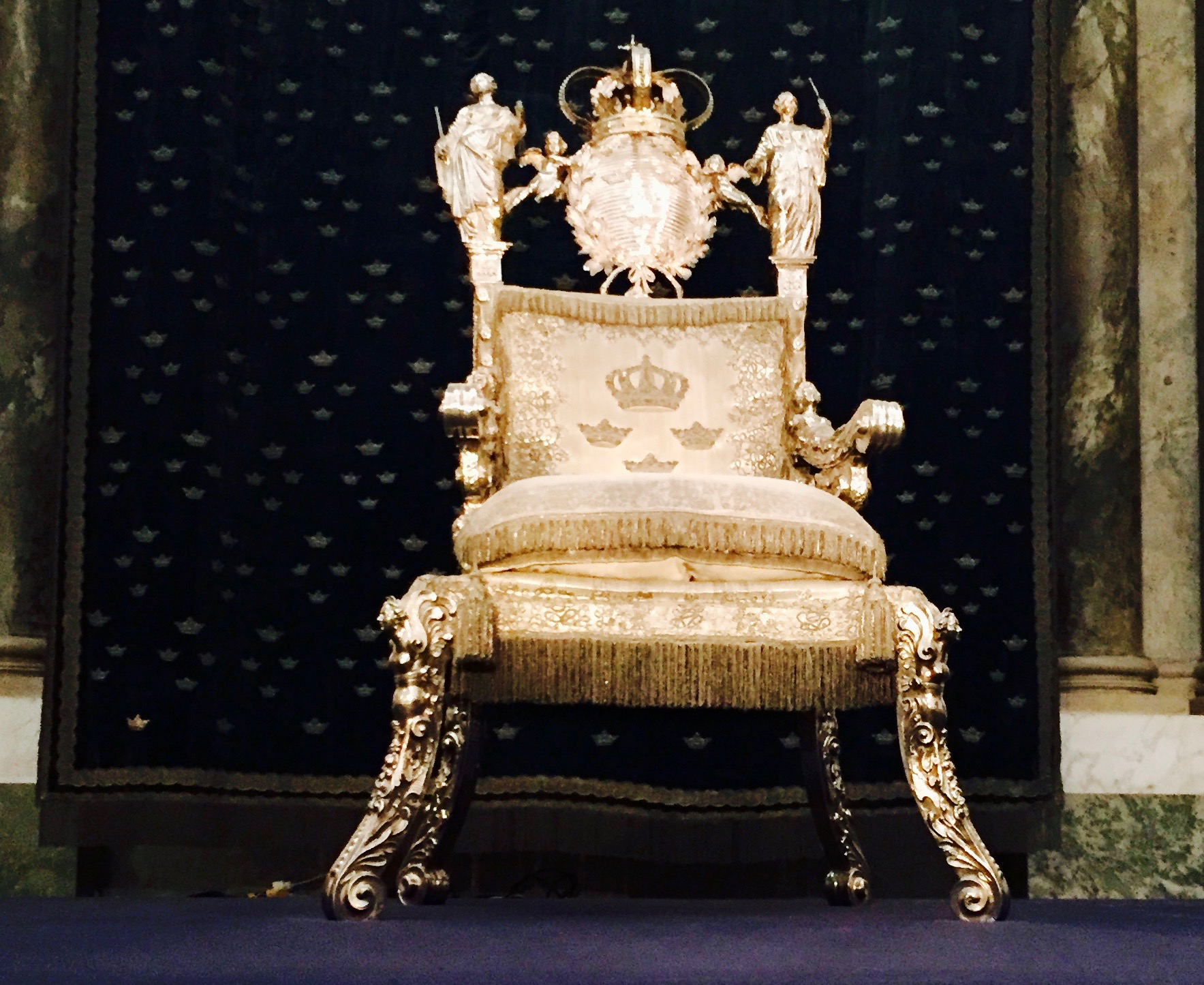 The Coronation Throne. I think the chances of me ever sitting in that is pretty slim.