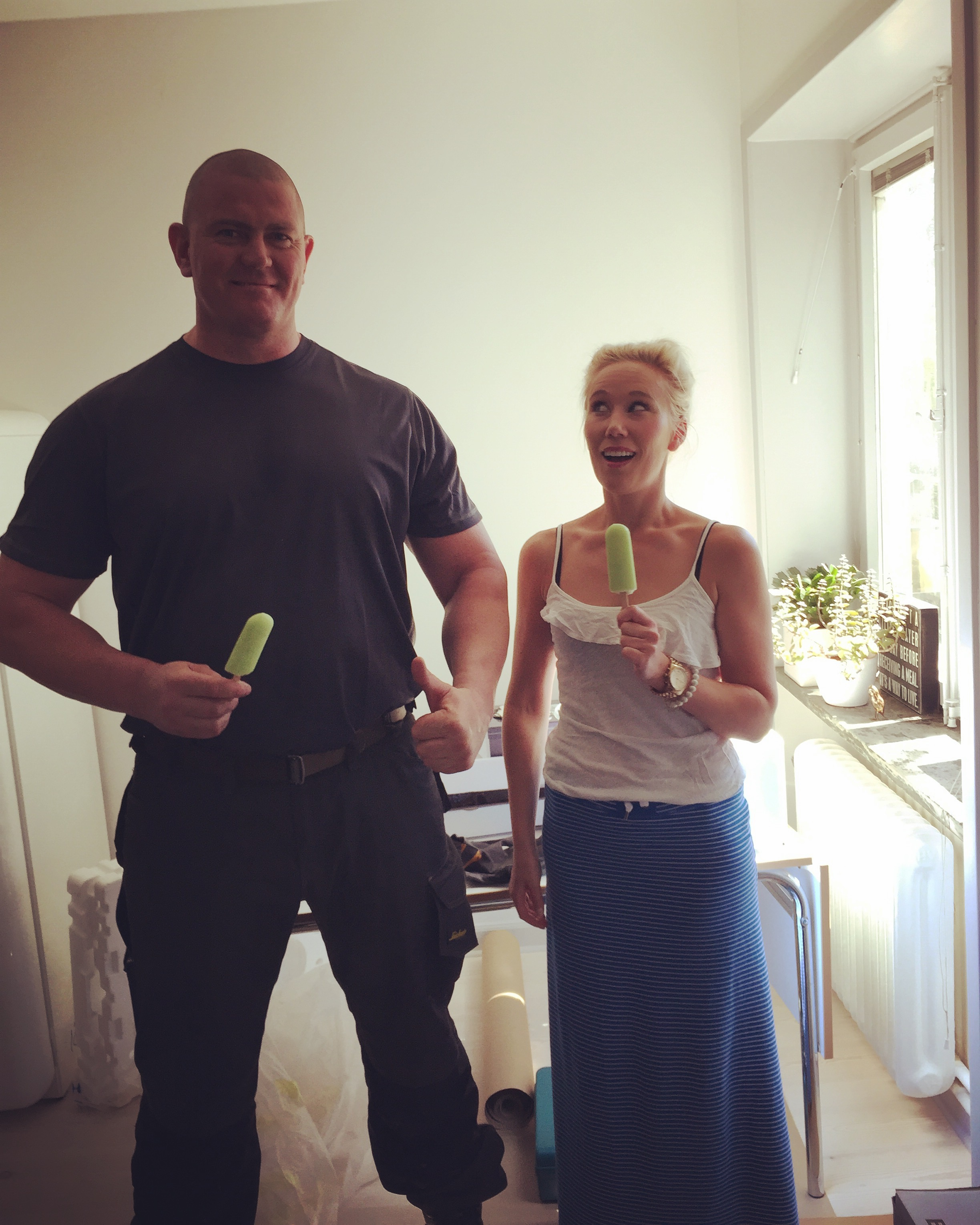 Biggest man I ever met. Yes, he used to be in the military but now works with kitchen countertops. Those muscles could come in pretty handy with all that lifting!