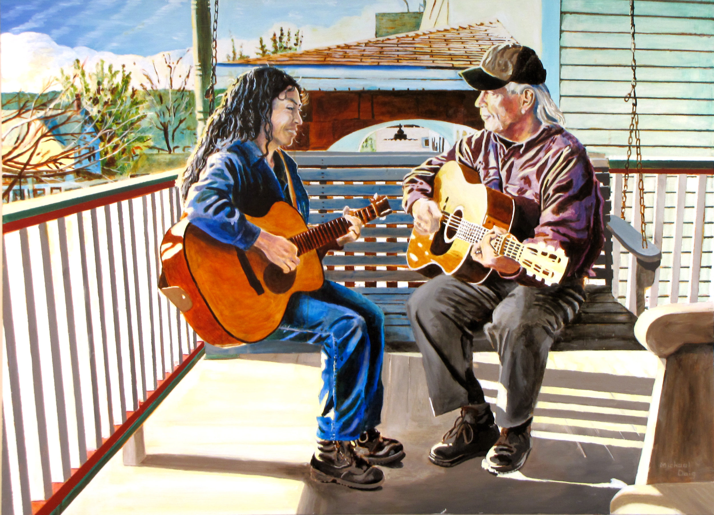 The Klines , painting by artist Michael Doig