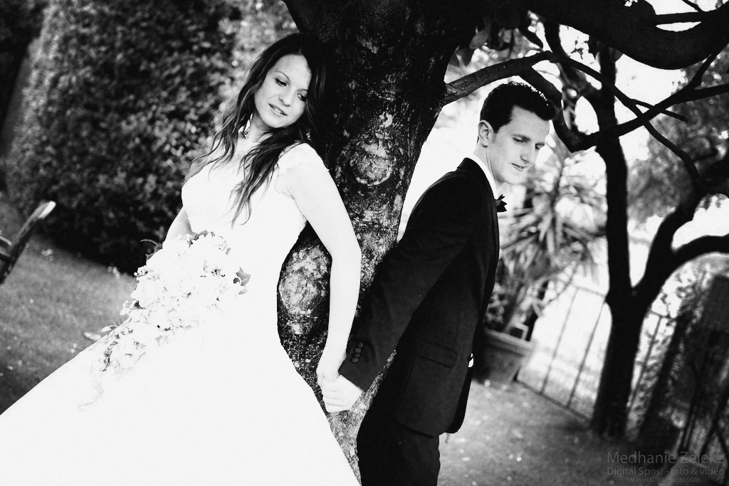 bride and groom photoshoot in lucca, tuscany