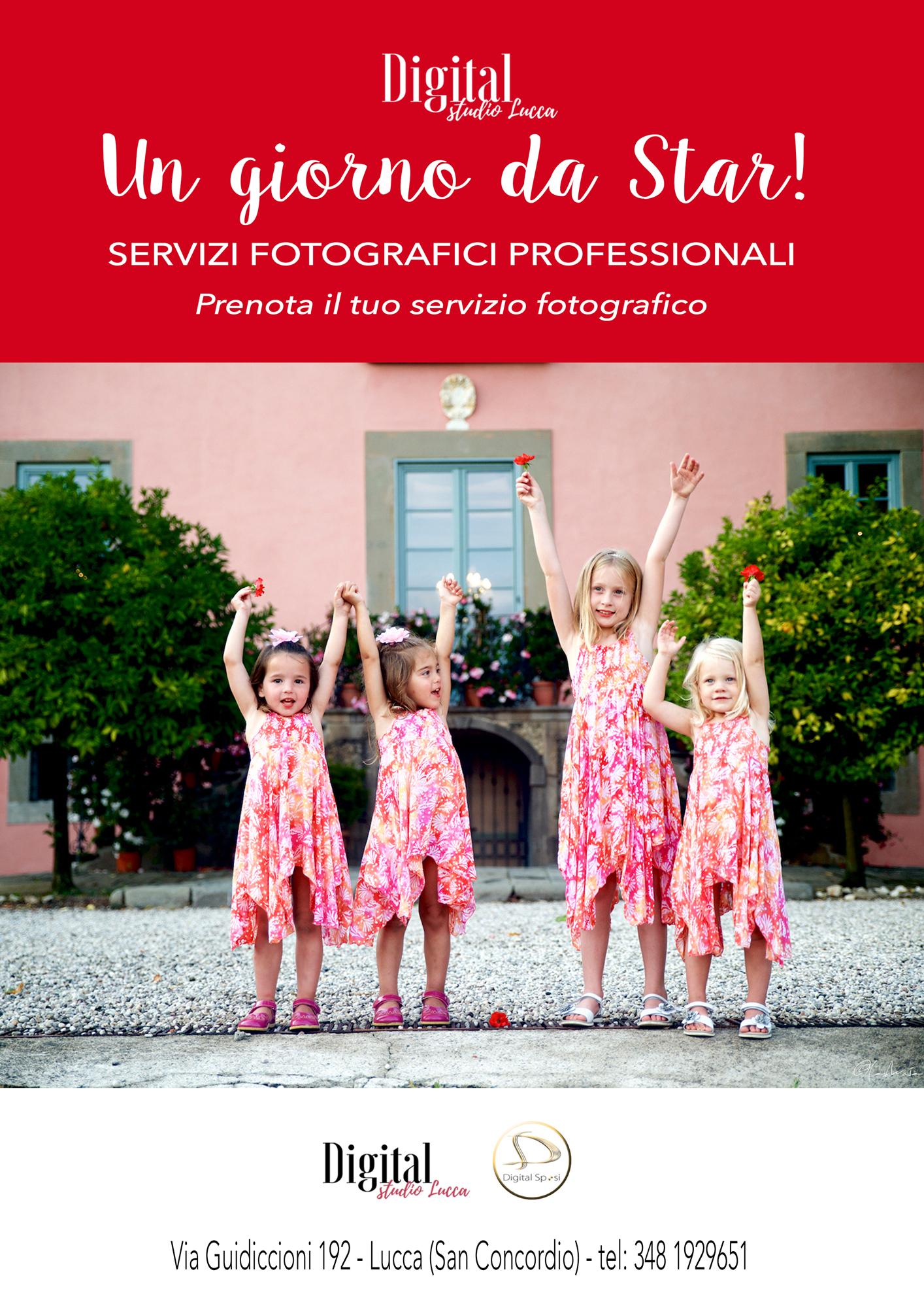 Prenota il tuo servizio fotografico in esterna. - Chiamaci al 348 1929651 oppure inviaci una mail al info@digitalstudiolucca.com