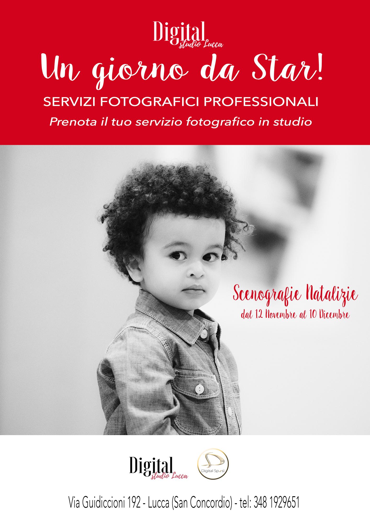 Prenota il tuo servizio fotografico in studio. - Chiamaci al 348 1929651 oppure inviaci una mail al info@digitalstudiolucca.com