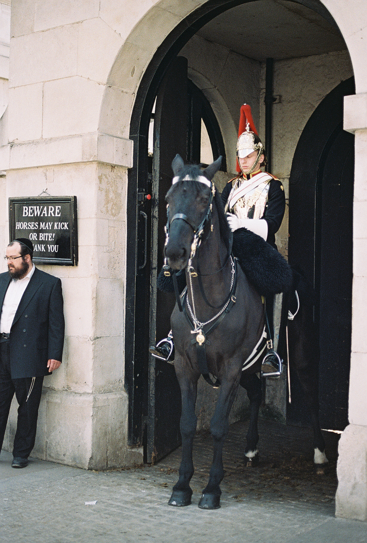 palace-guard-on-horse-london-uk-european-honeymoon