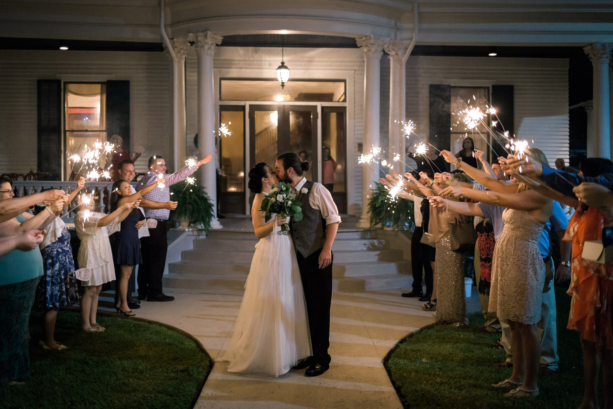 maryland-dc-va-photographer-wedding-sparkler-exit-kiss-the-redding-house