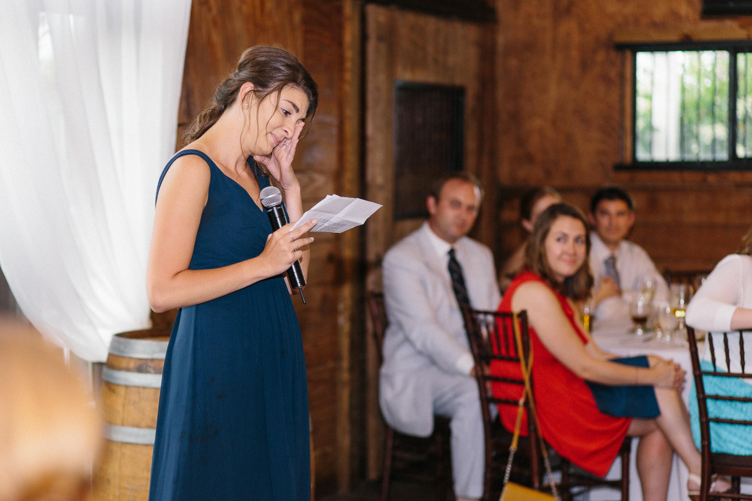sweet-bridesmaid-toast-to-wedding-couple