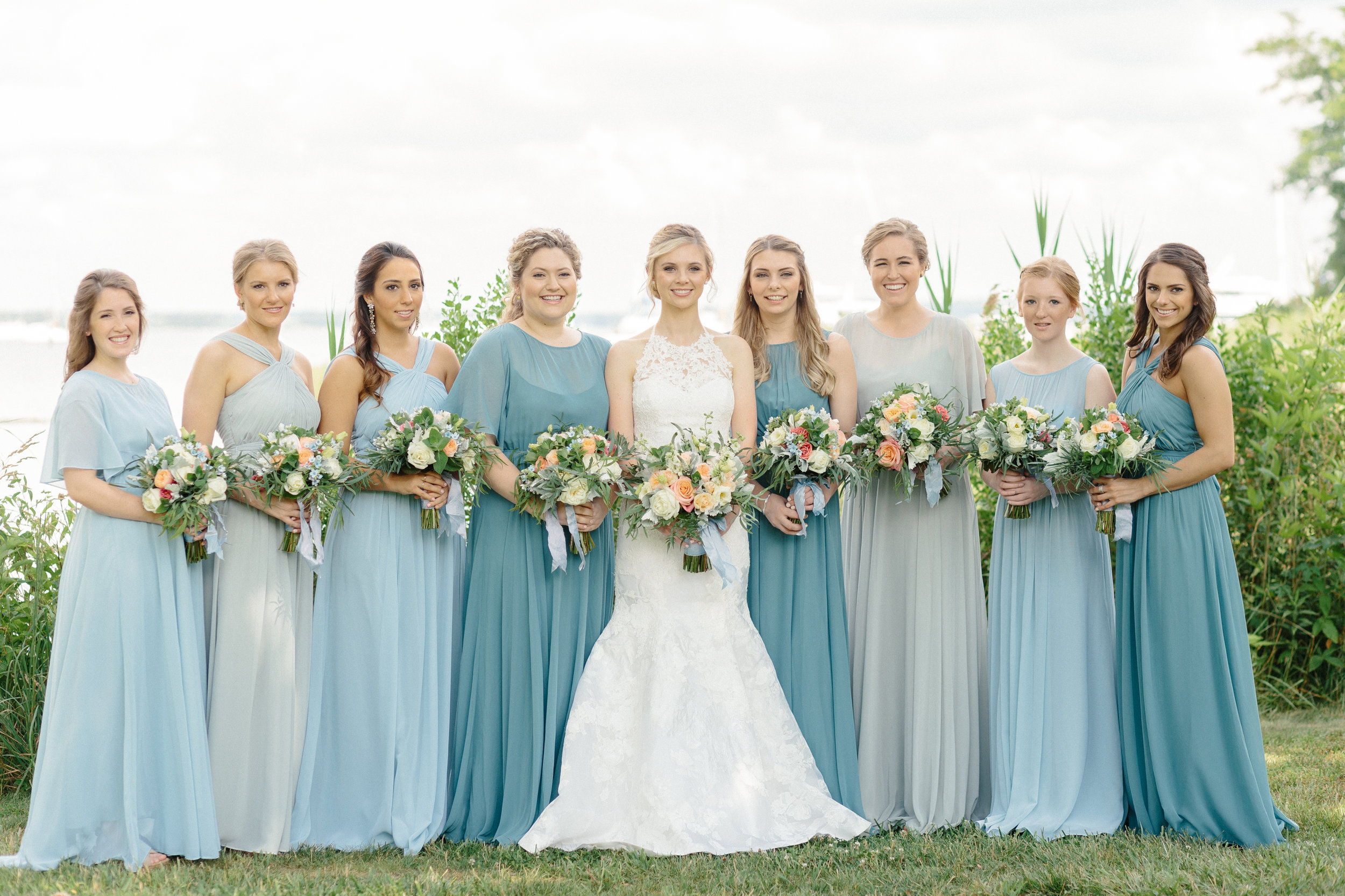 shades-of-blue-mismatched-bridesmaid-dresses