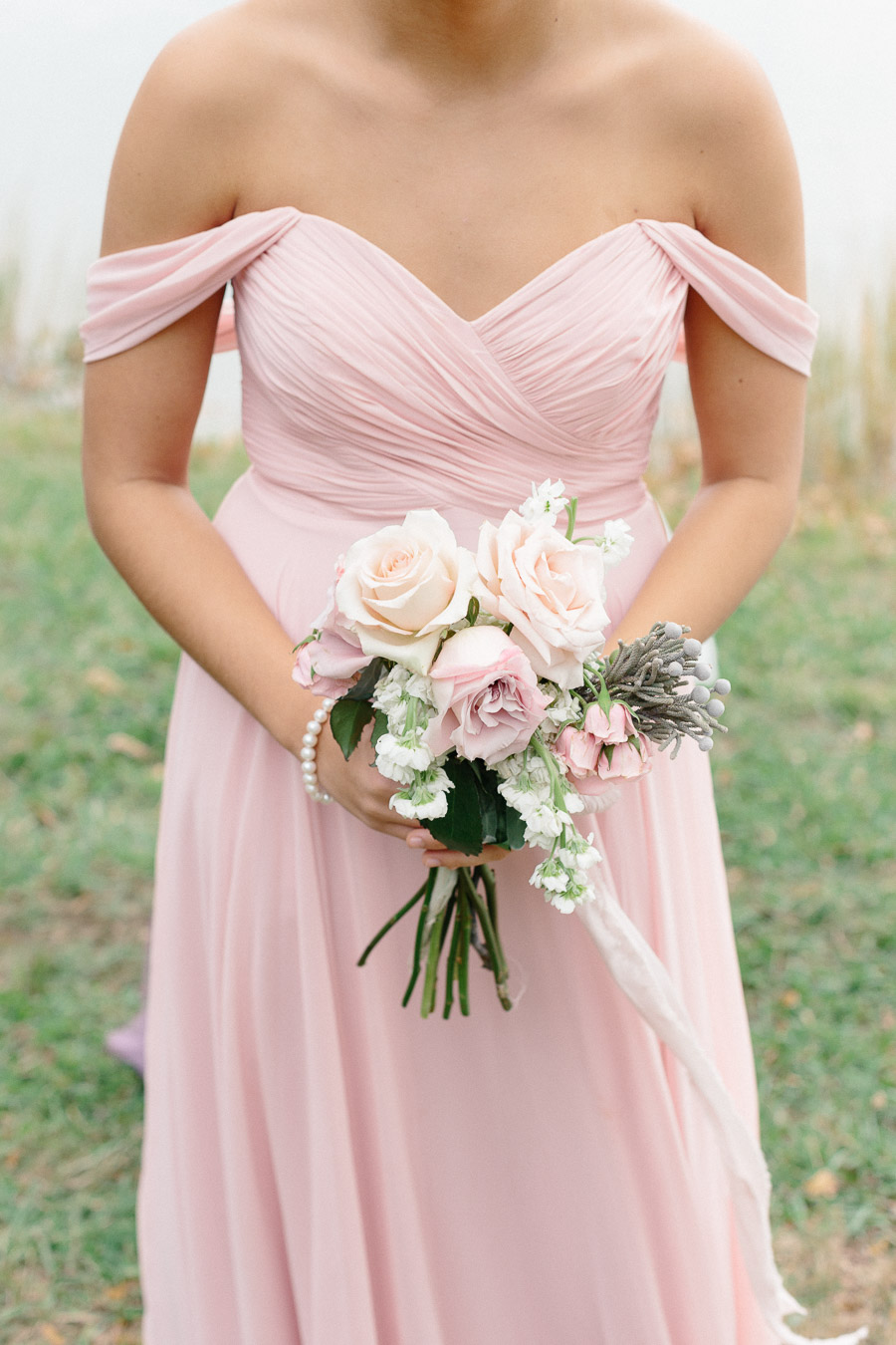 pink-bhldn-bridesmaid-dress-off-the-shoulder