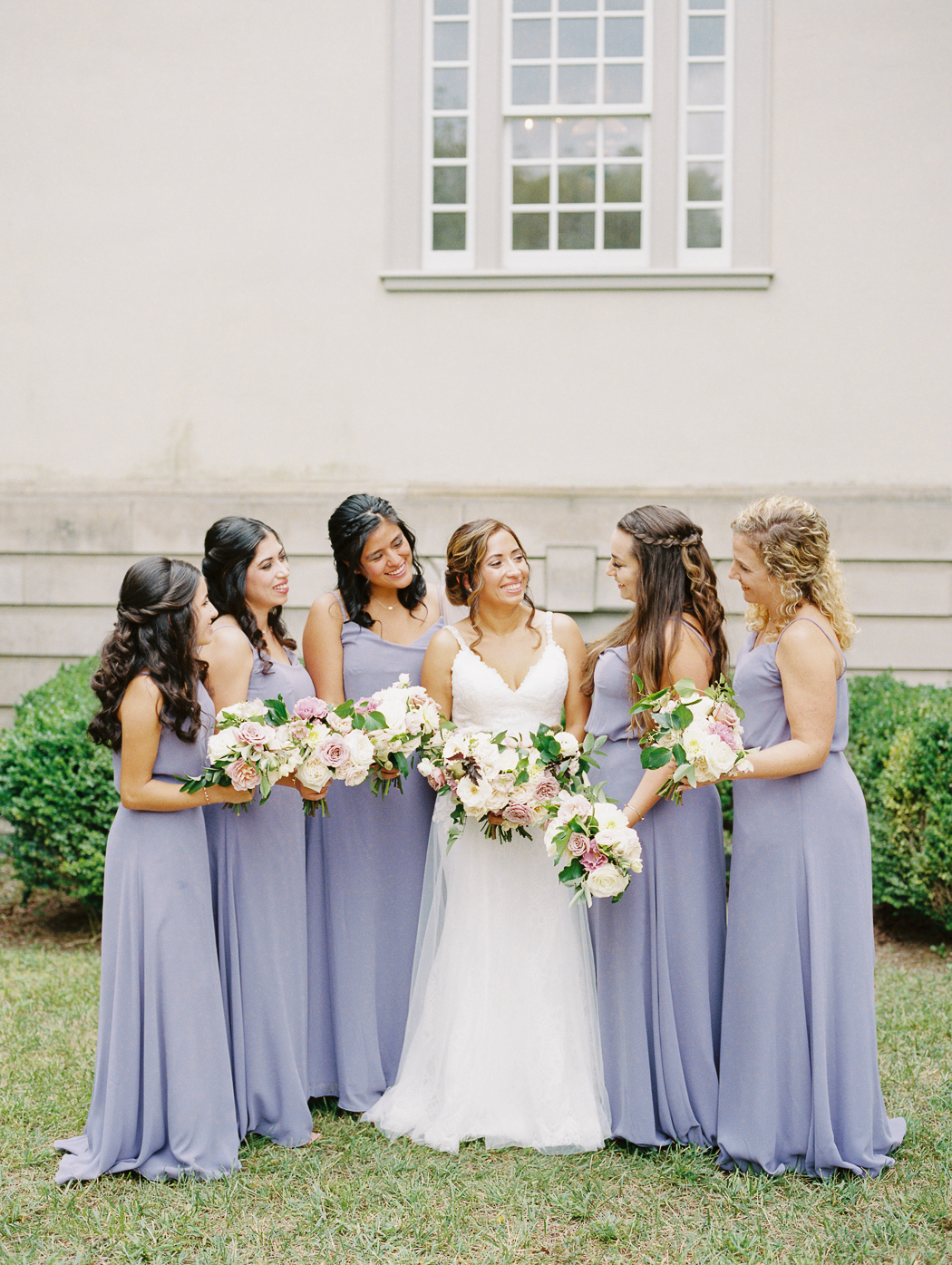 purple-bridesmaids-dresses-great-marsh-estate-wedding