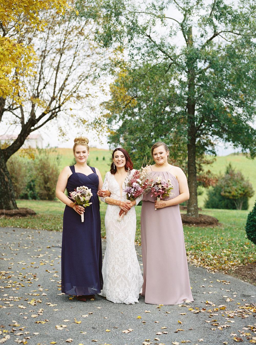 purple-and-pink-bridesmaids-dresses-fall-wedding-ideas