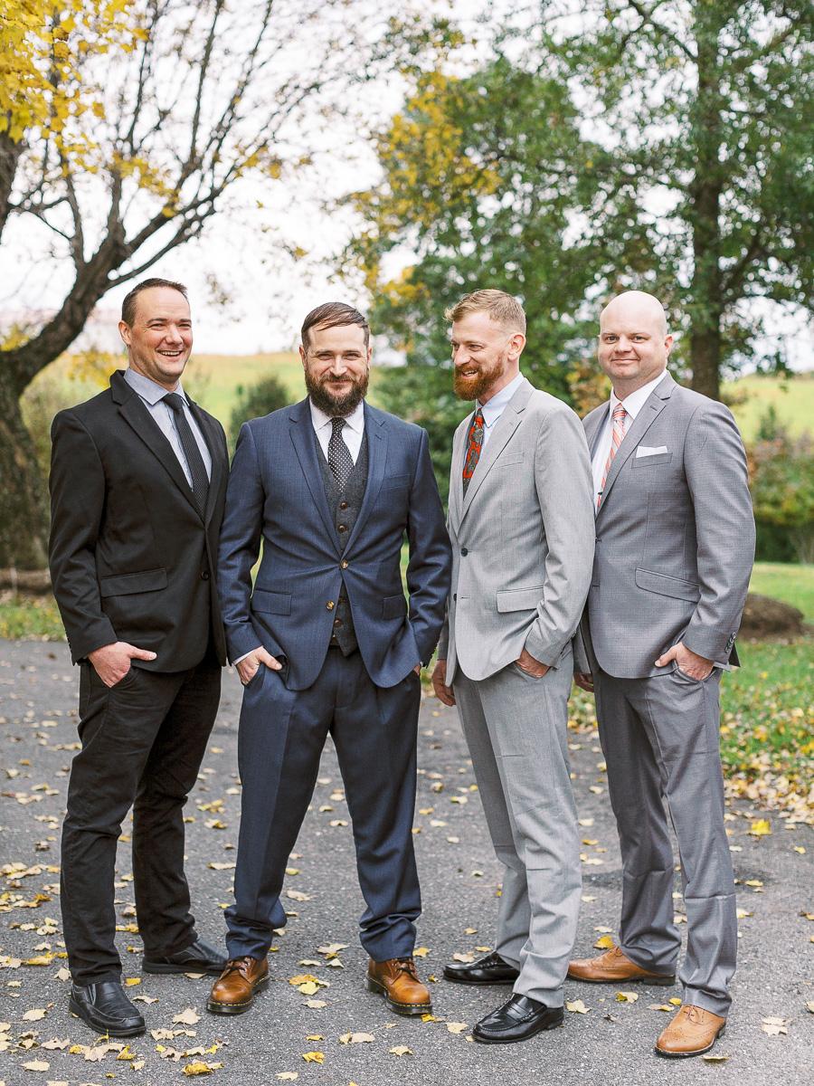 hipster-groomsmen-gray-wedding-tuxes