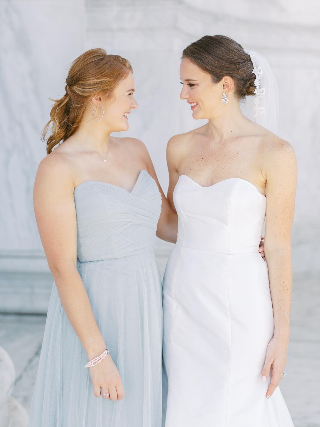 Jenny-yoo-blue-strapless-bridesmaid-wedding