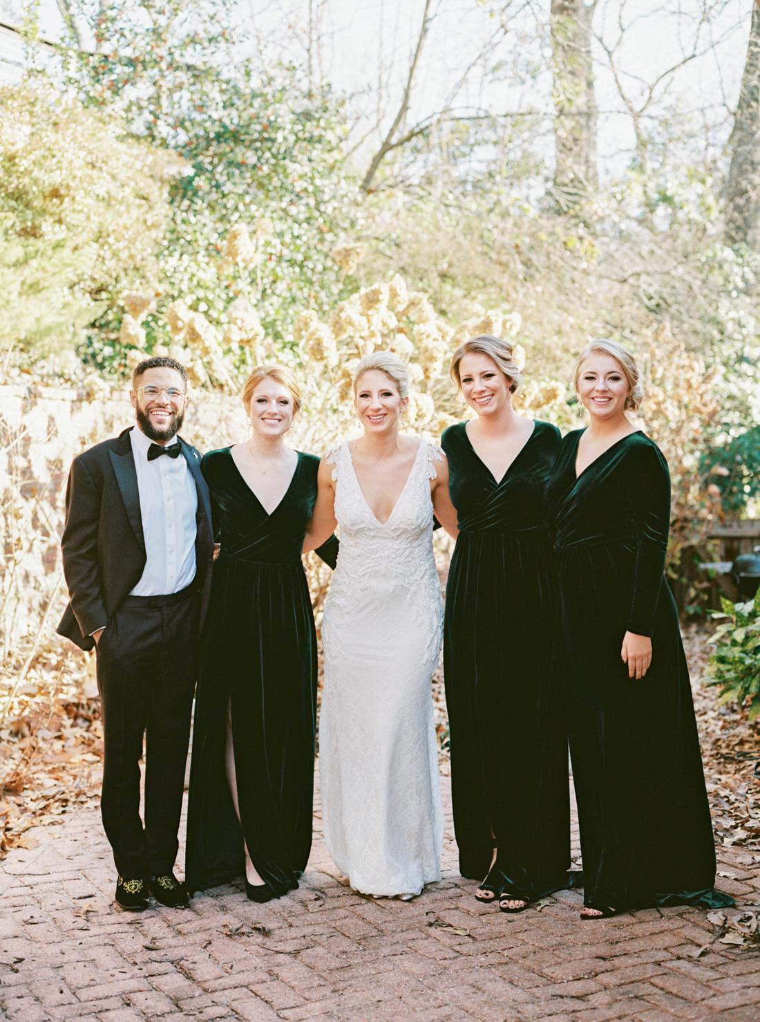 velvet-green-bridal-party-bridesmaids