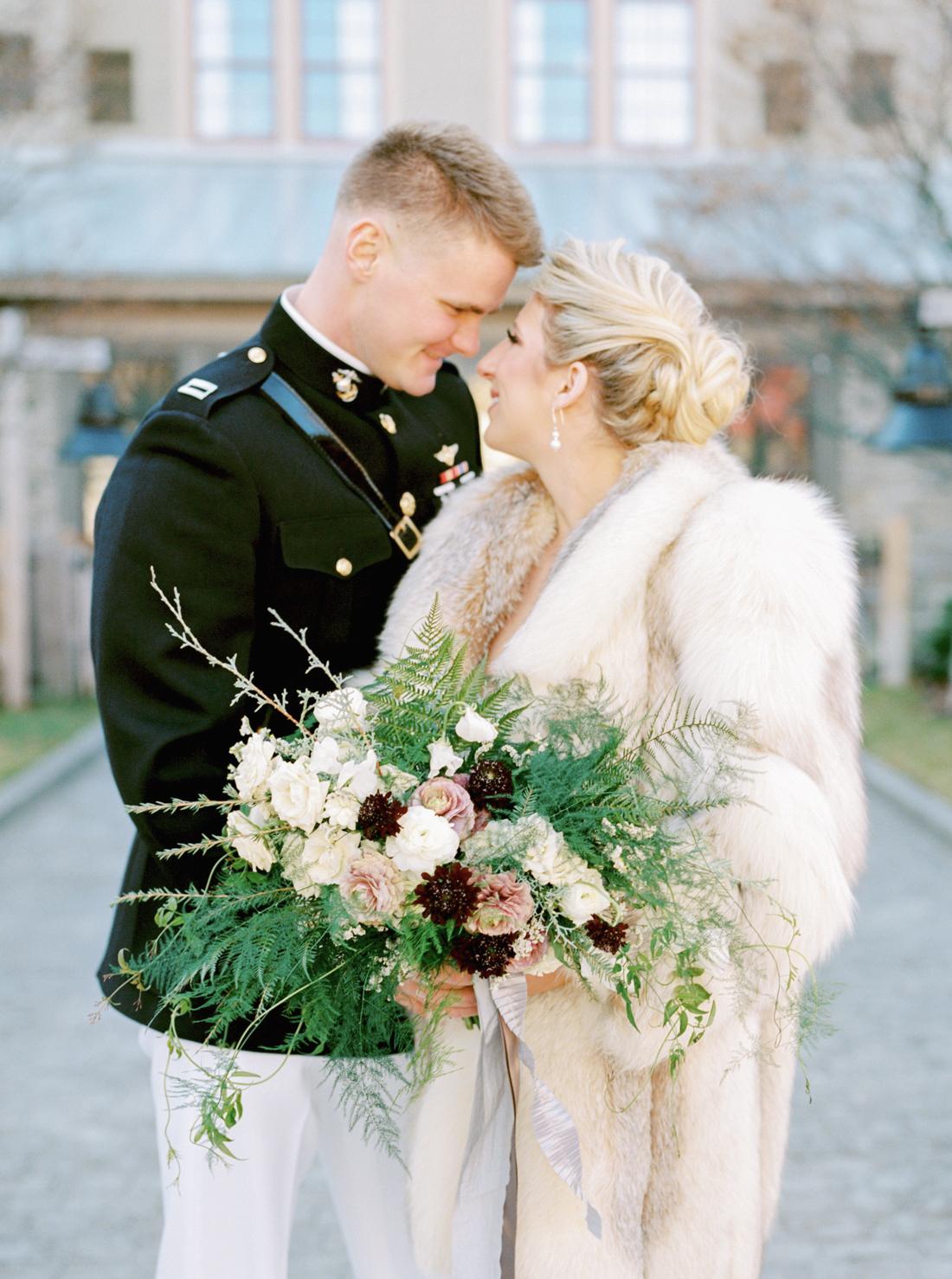 bridal-fur-throw-winter-wedding-michelle-whitley-photography
