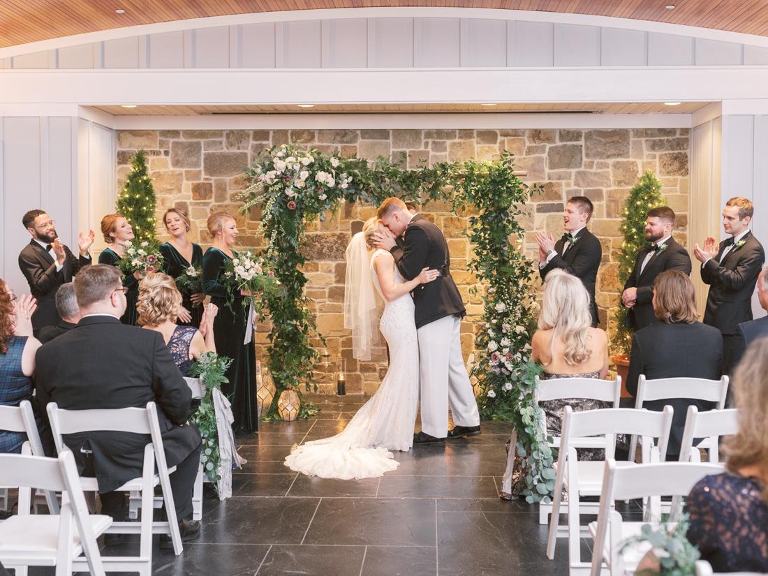 chesapeake-bay-beach-club-wedding-first-kiss