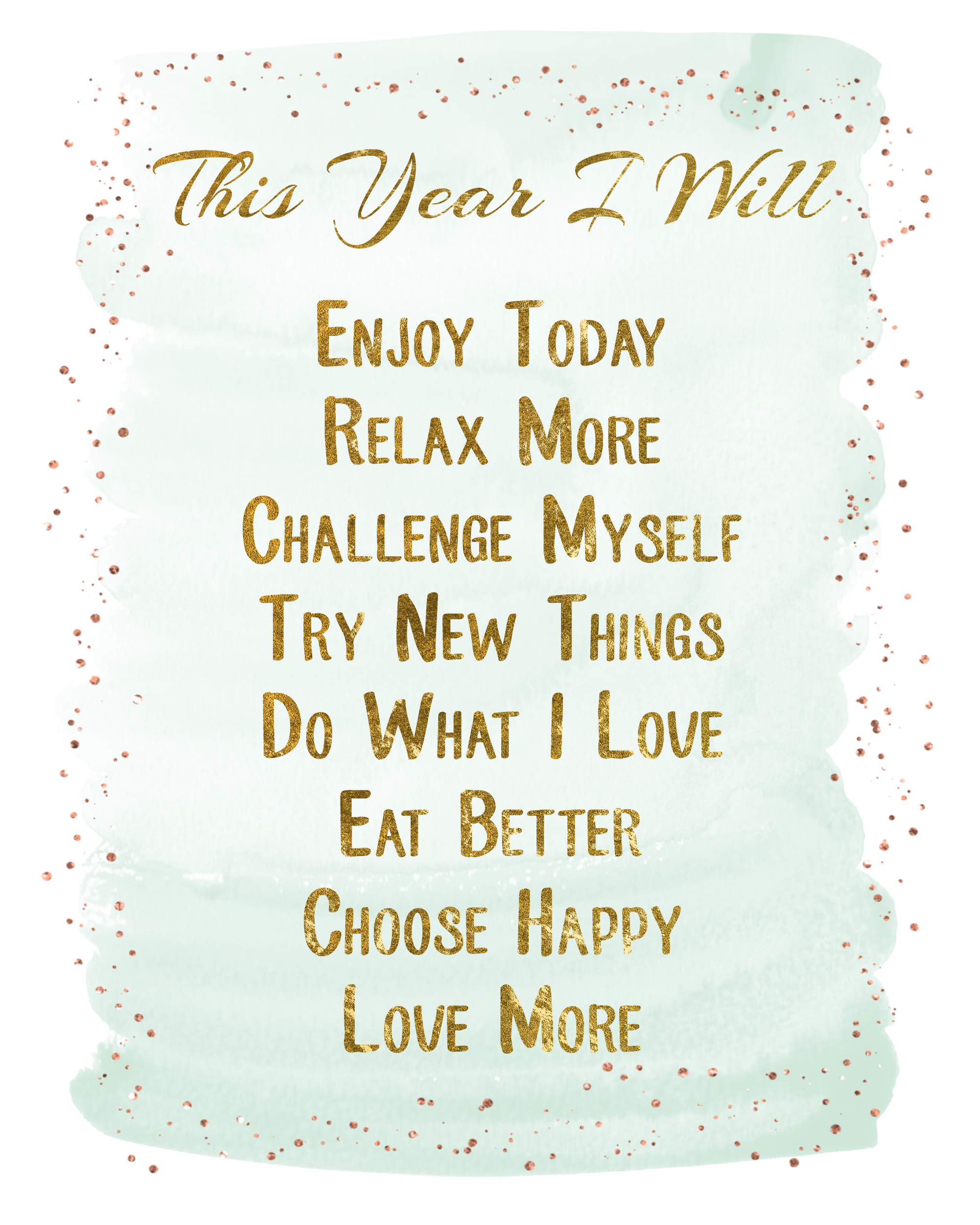2016 Sheer Resolutions