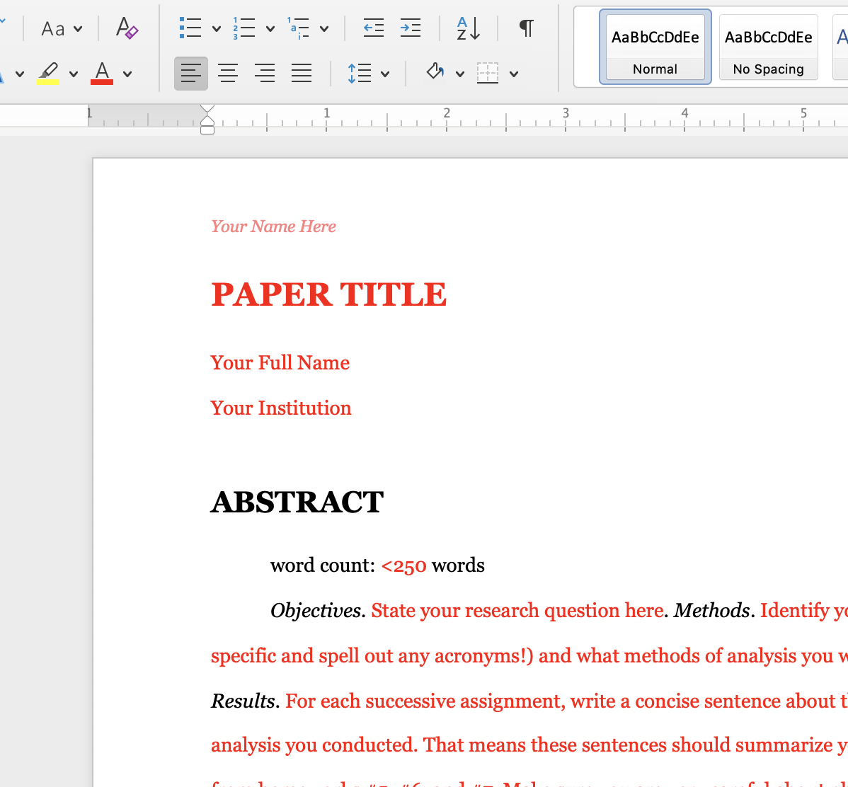 My research paper template (in the style of academic journal article) for undergraduate sociology majors and minors in my research design and statistical analysis course.