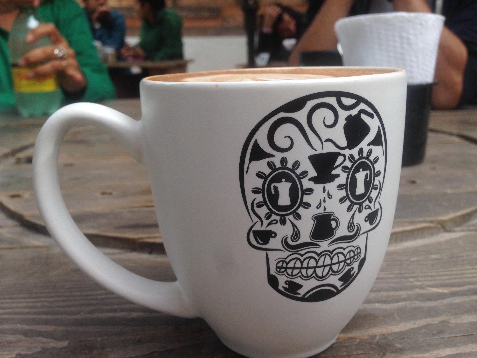 Love the logo at Doce Cuarenta, so much great Day of the Dead skull art in Baja.