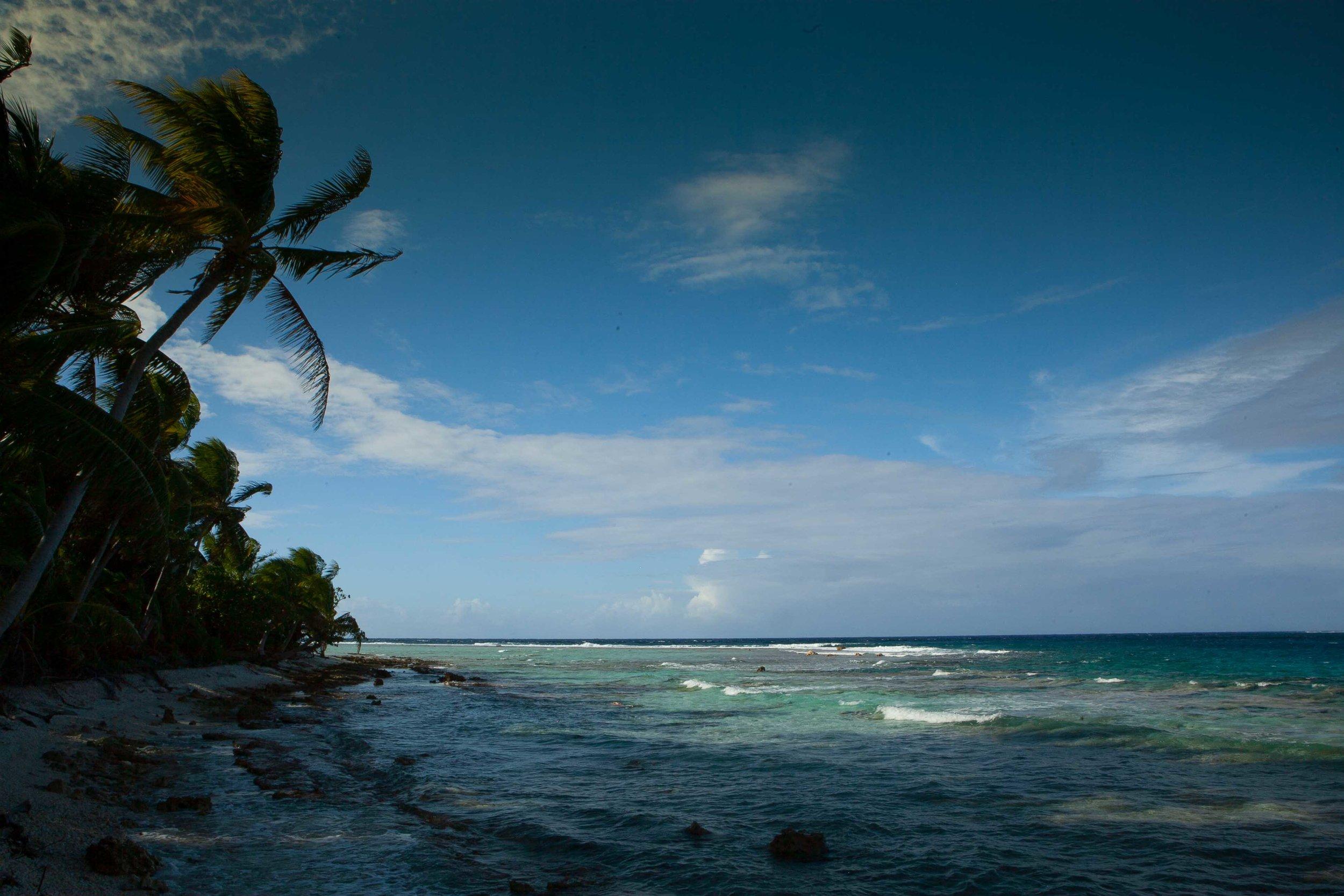 Looking northwest, Suwarrow, Cook Islands.