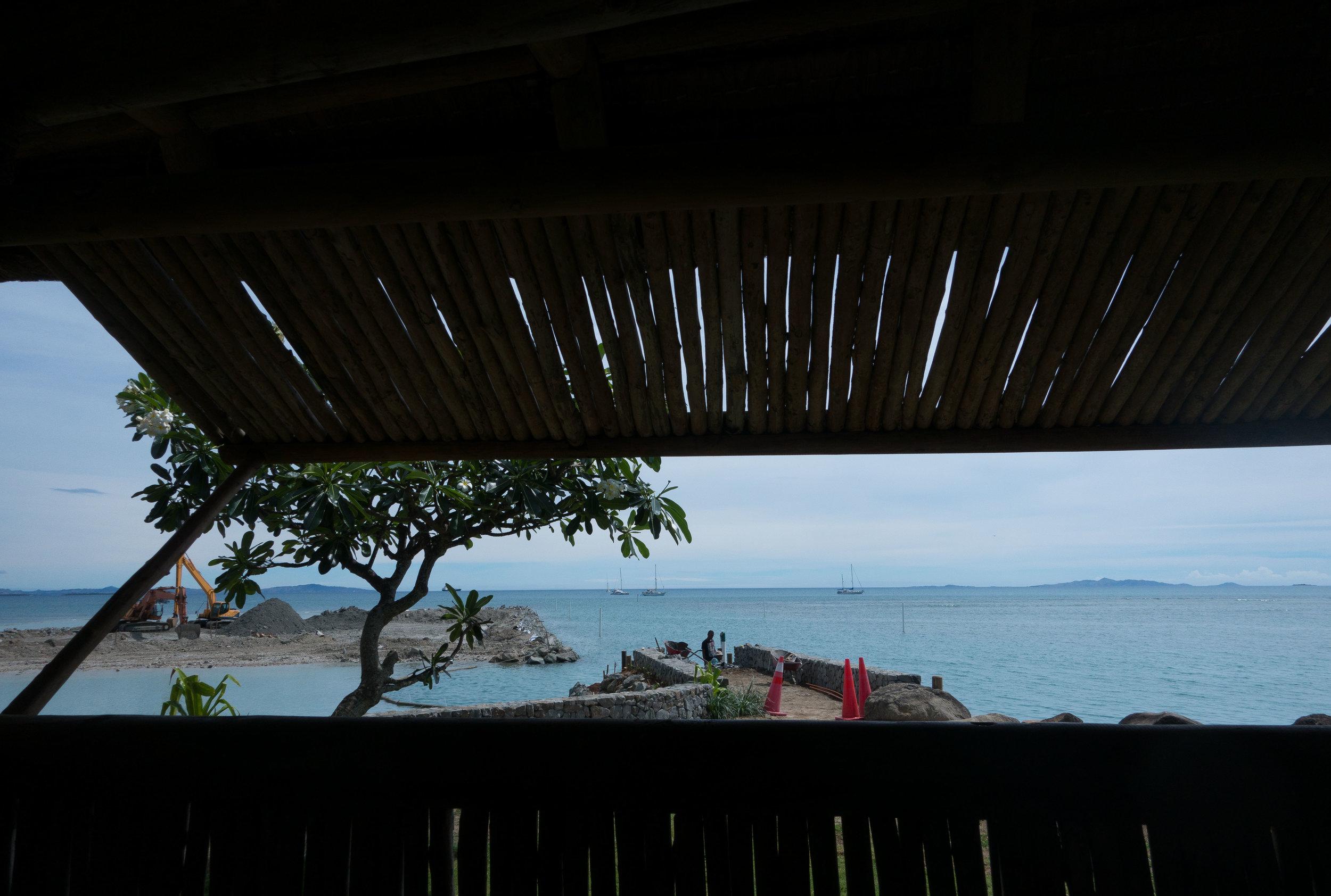 View from the Vuda Marina restaurant.