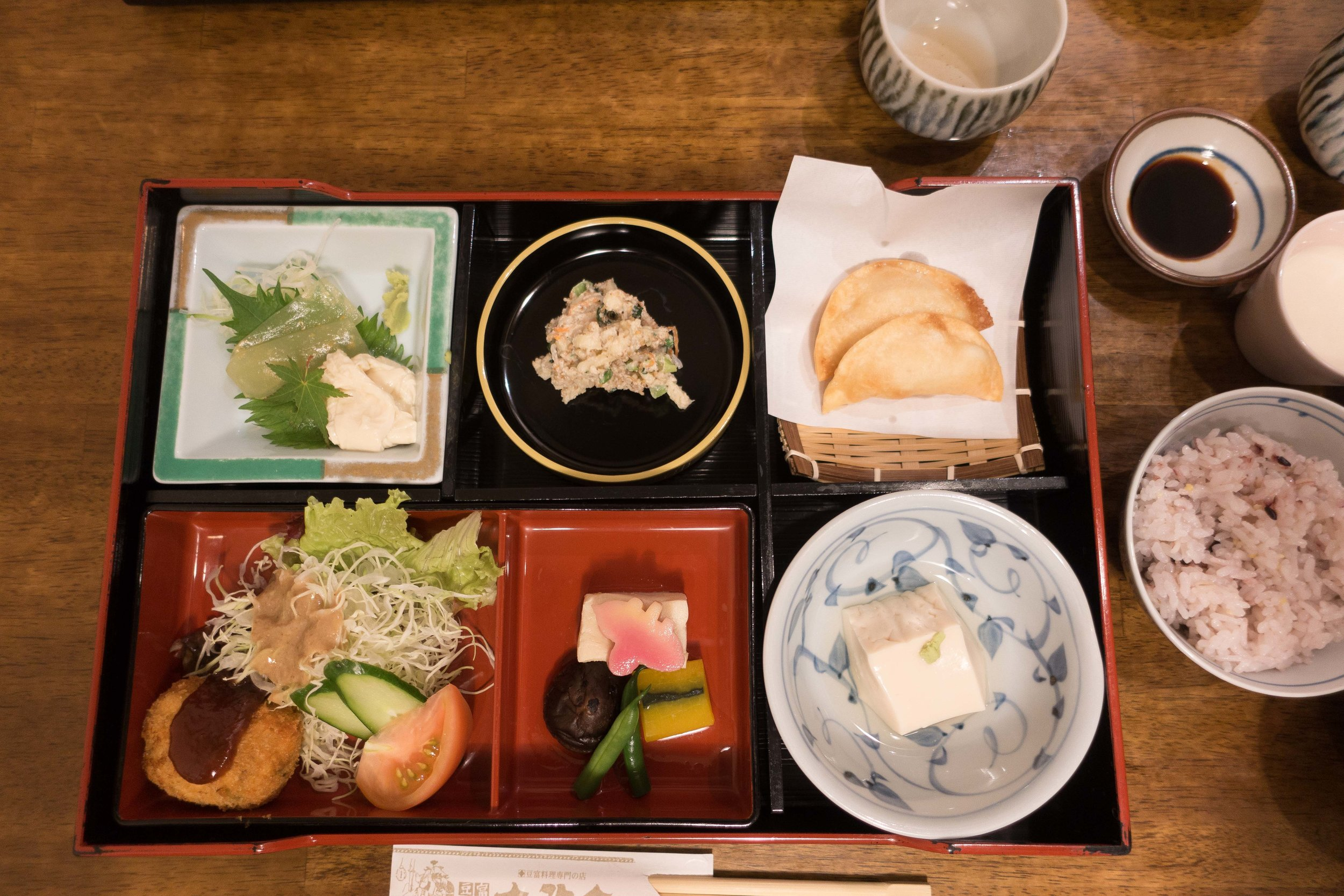 There is of course, excellent food in Nagasaki. This was lunch at a restaurant that focuses on many forms of tofu.