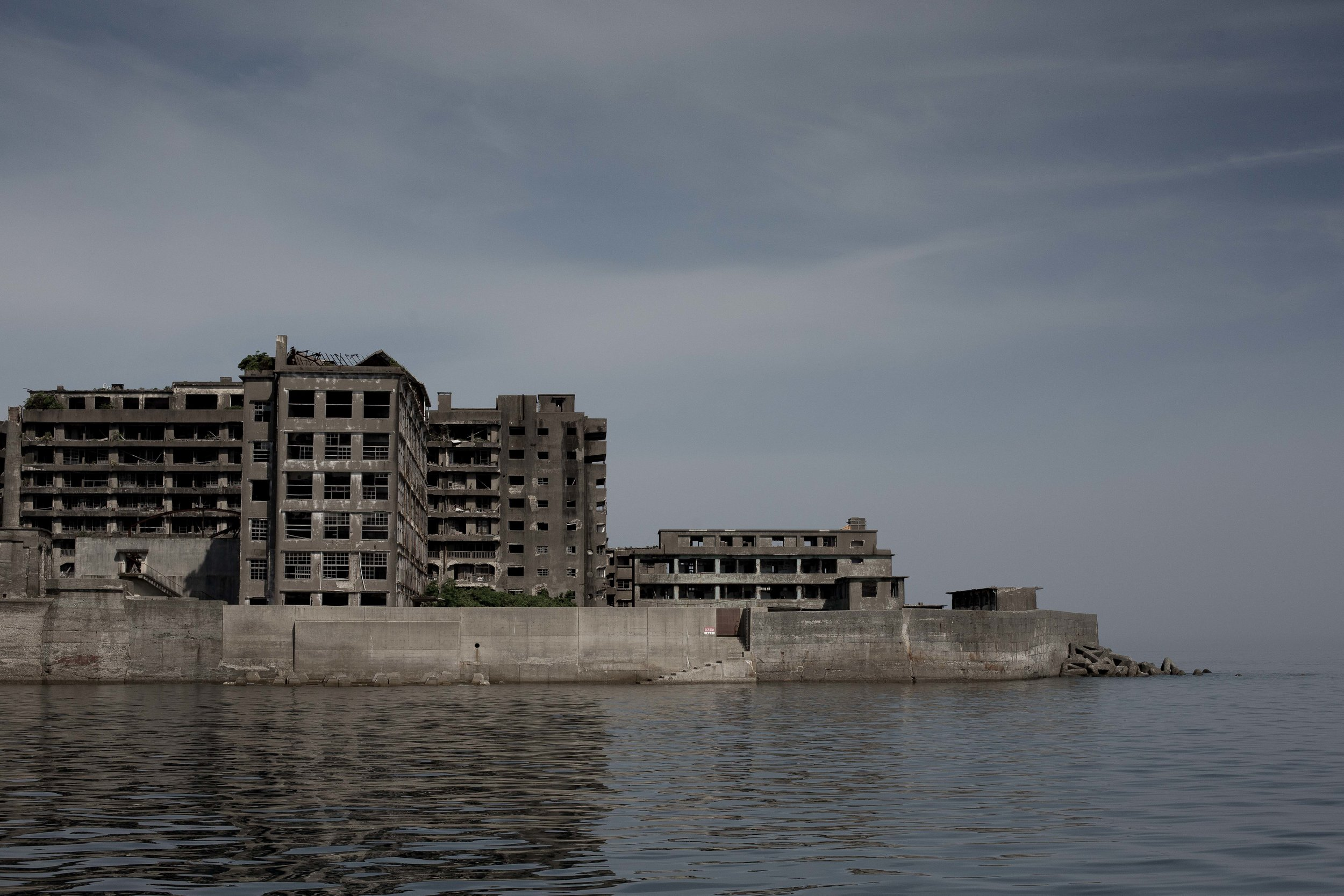 We motored past Hashima Island on our way from Nomo Ko to Nagaski.