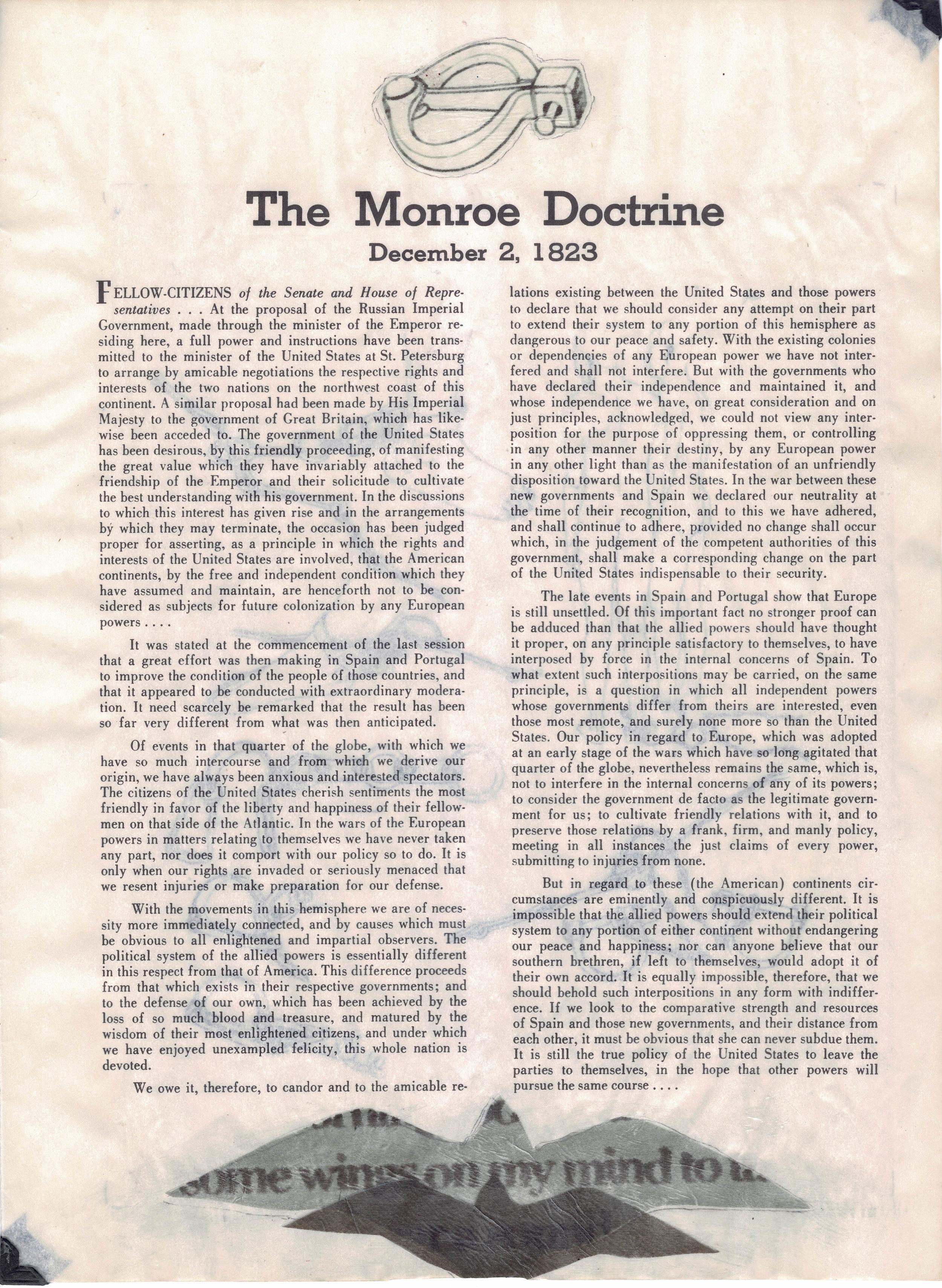 drék davis, 8. Liberty Annotated, The Monroe Doctrine (2018) med.jpg