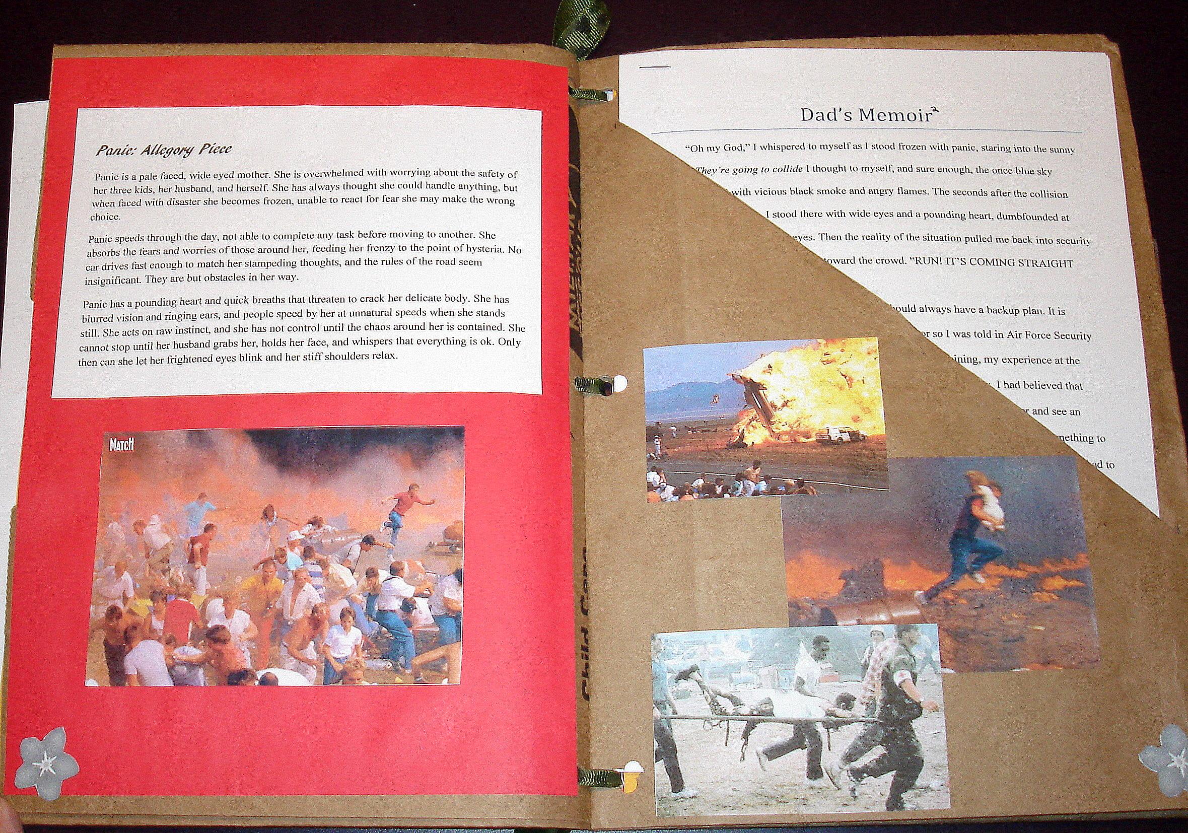 Inside Paper Bag Scrapbook Project
