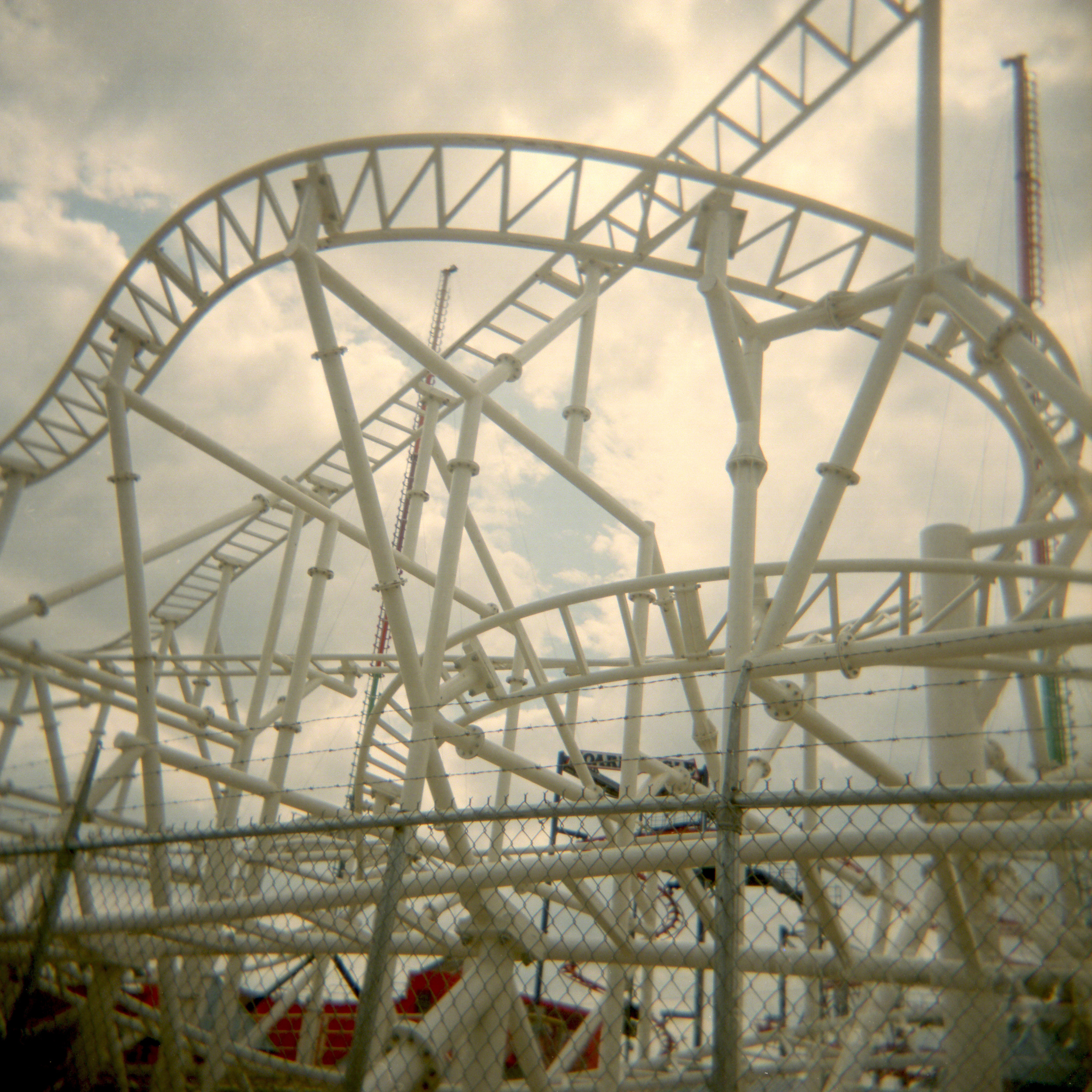 Roller Coaster 2011 ,Colour 120 film  Holga camera