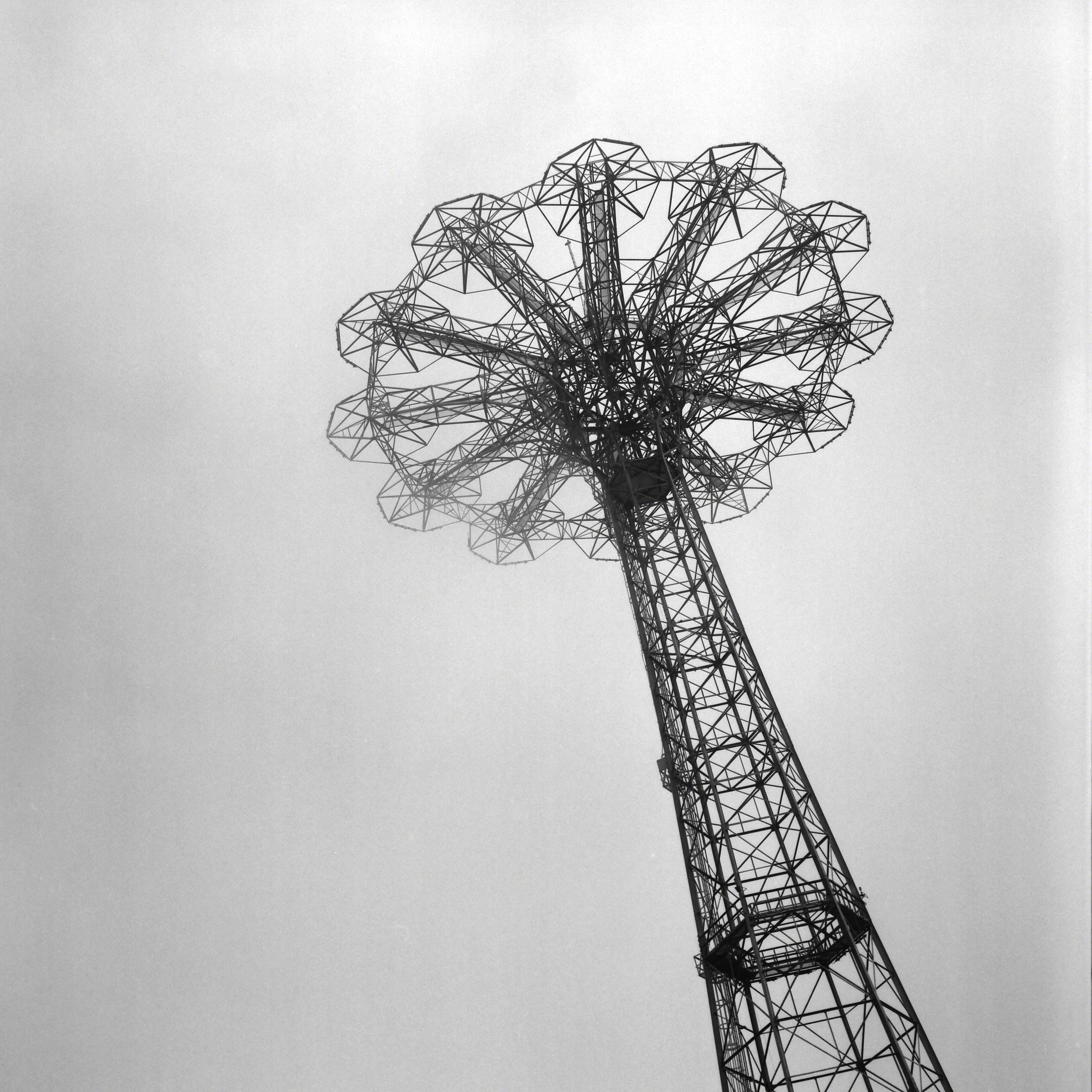 Parachute Jump Coney Island, 2012 B&W 120 Film Rolleicord