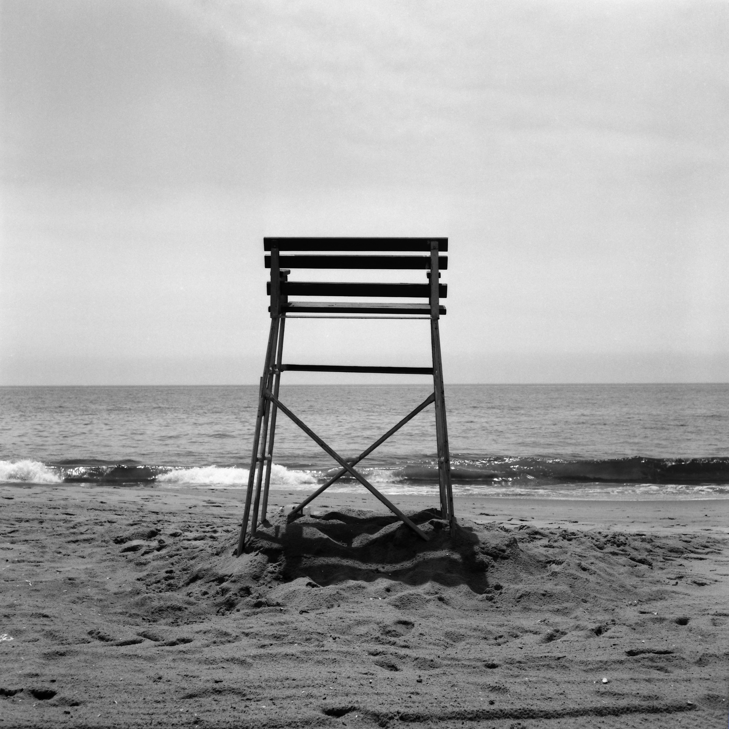 Lifeguard Seat 2012 B&W 120 film Rolleicord