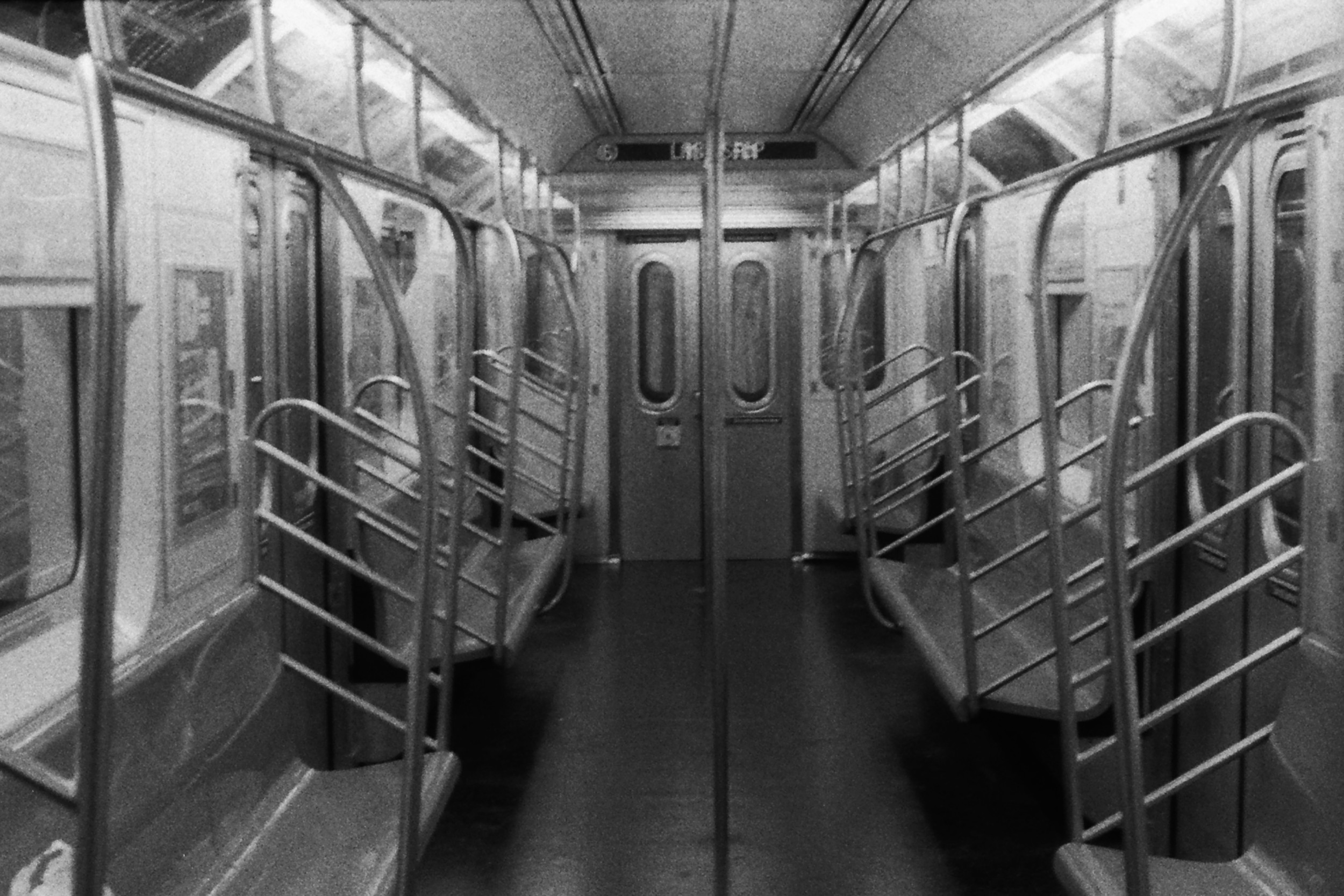 Subway Car New York, New York 2011 B&W Print