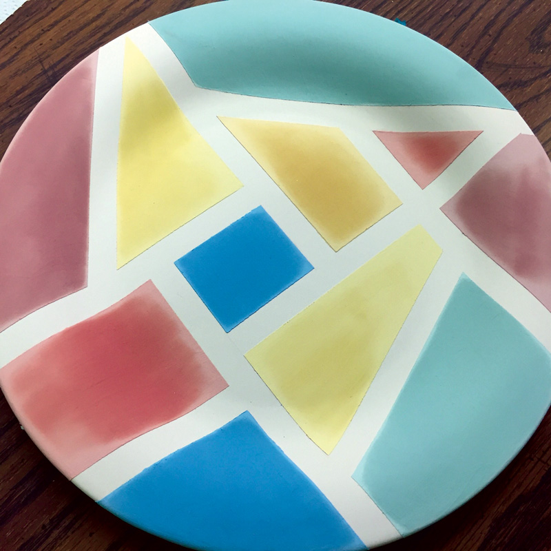 Abstract Pottery Plate
