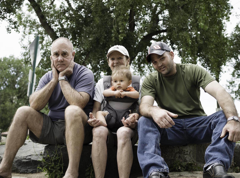 Creek'n -Golden - Grandpa, Grandma, Declan & Sean
