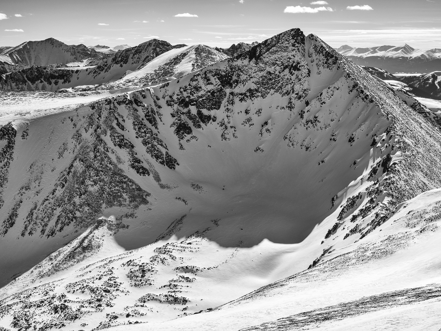 North Couloir - Pacific Pk 13,950'