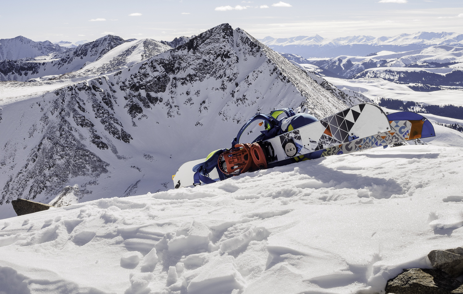 North Couloir of Pacific Pk - From Crystal Pk