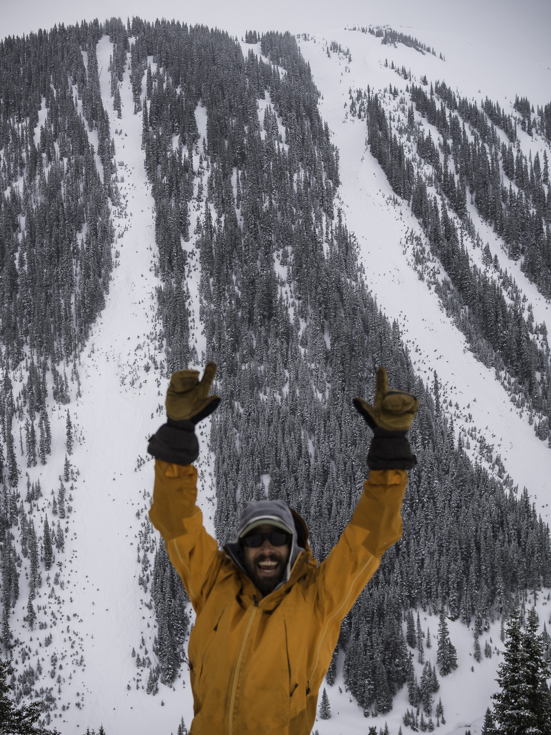 Storm Skiing at its Finest - Photobomb Todd