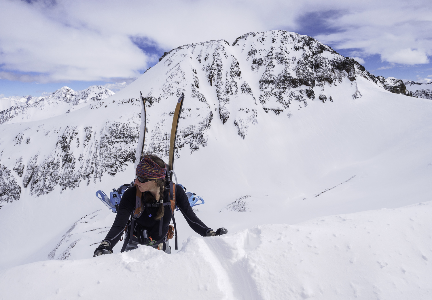 """Looking for the """"Illusion"""" Couloir - San Juan Range, CO"""