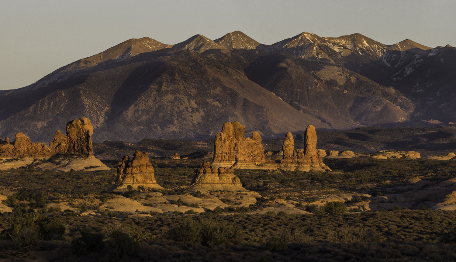 Sunset and the La Sals - Moab