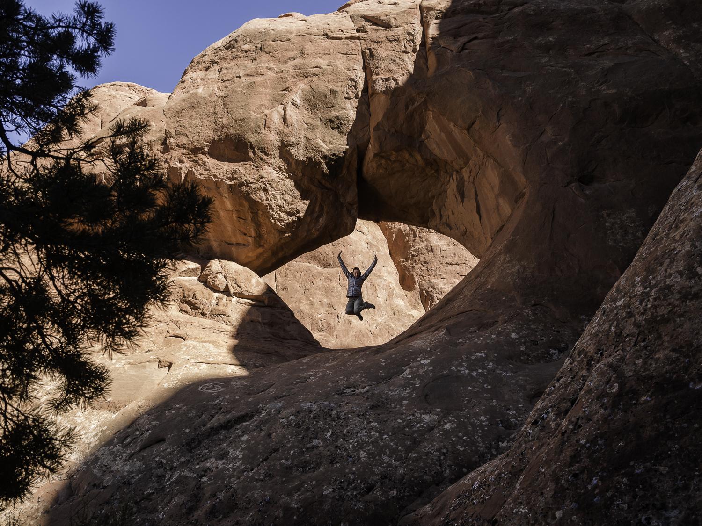 Birthday Celebratory Jump-Shot - Moab