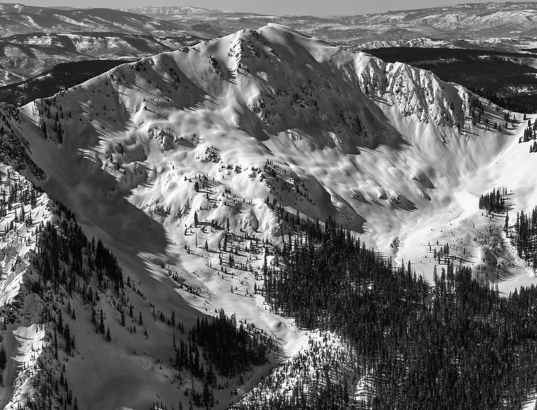 Solo Splitboarder Across the Valley - Bald Mtn.