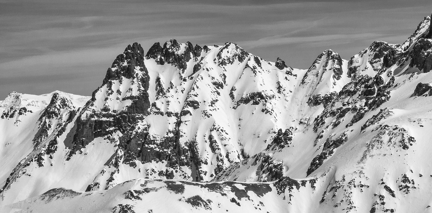 Day Before from Yellow Mtn - Magnum Couloir