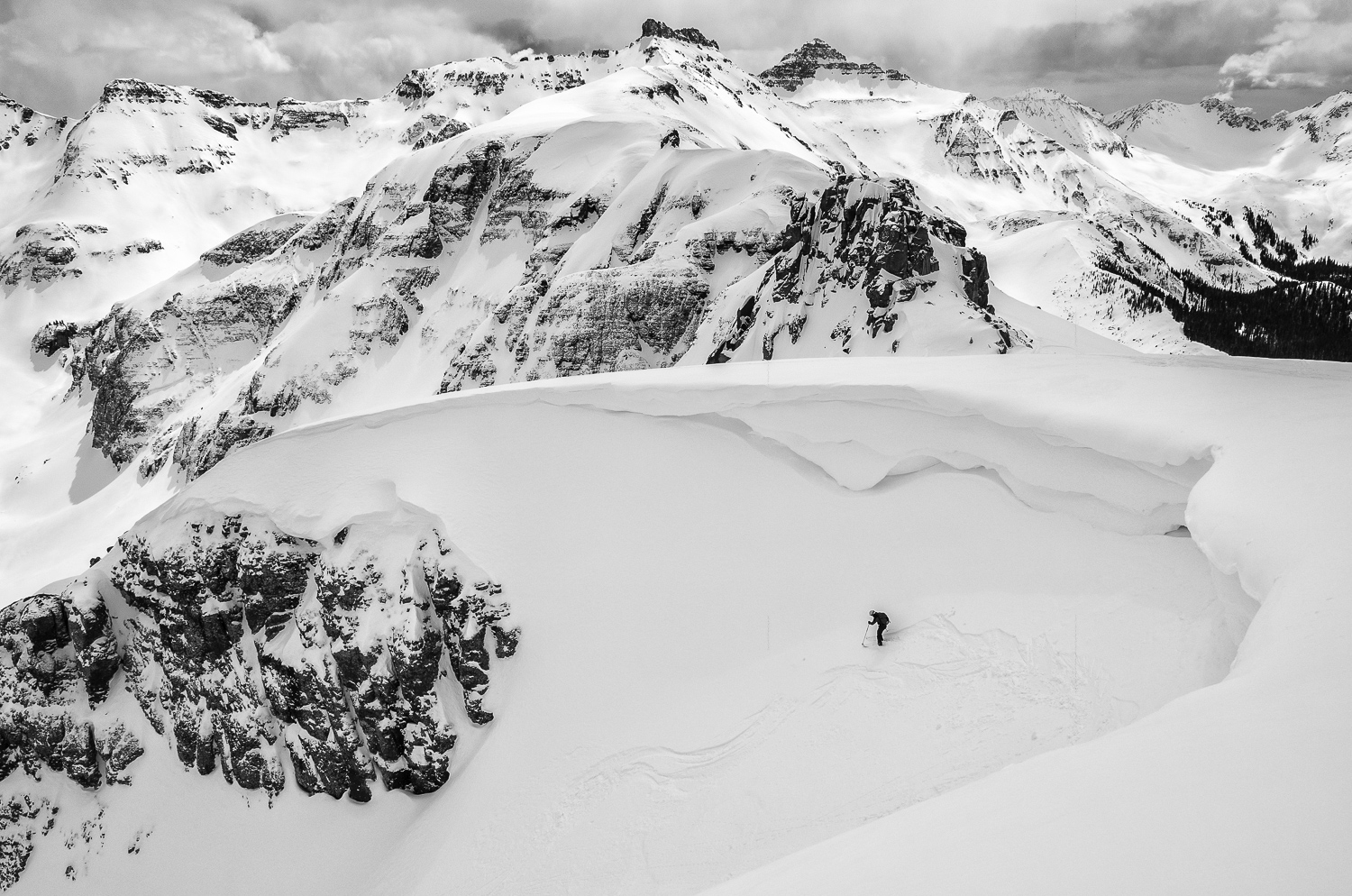 Just One of Yellow Mtn's numerous couloirs