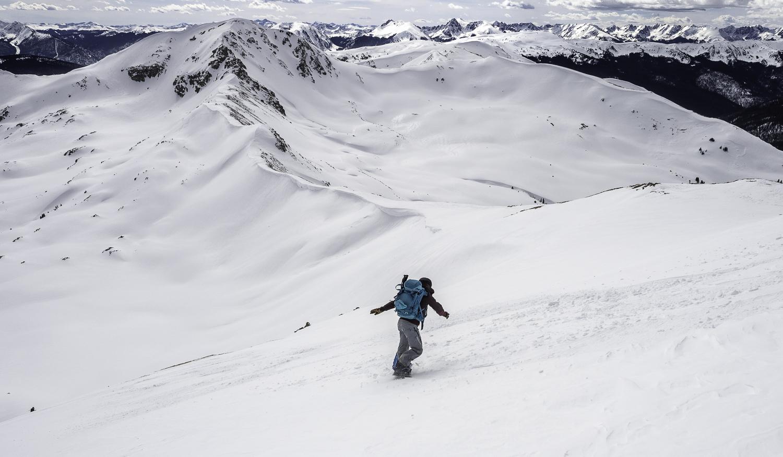 Final Summit Descent off 12,818' - Kristin