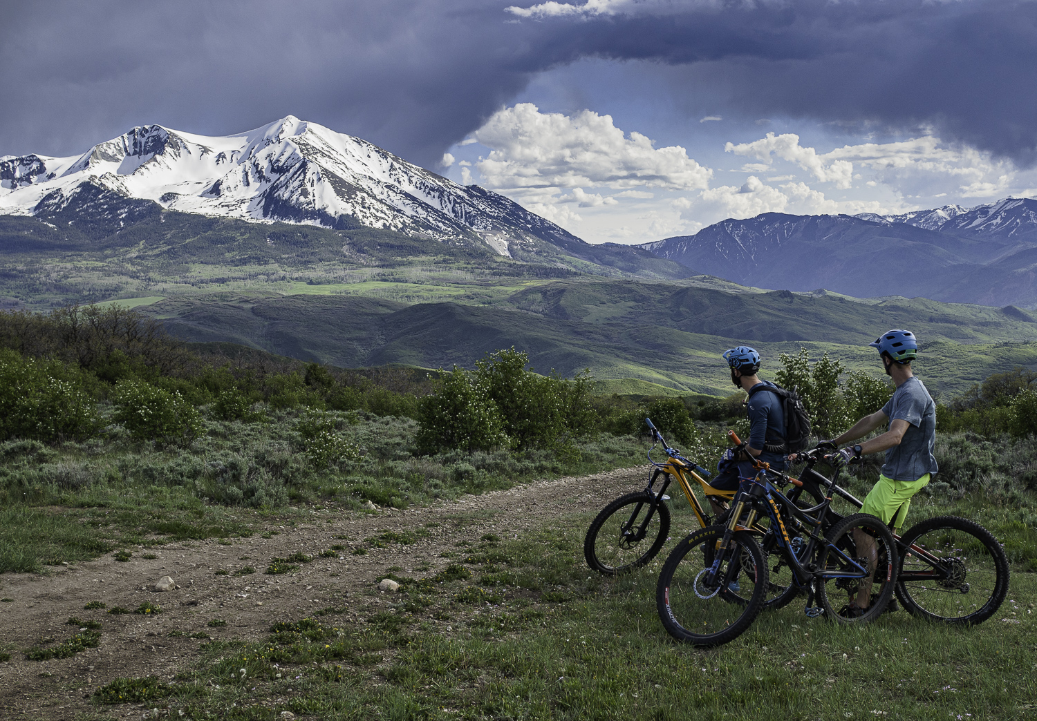 Mt Sopris stealing our attention - Joel and Ben