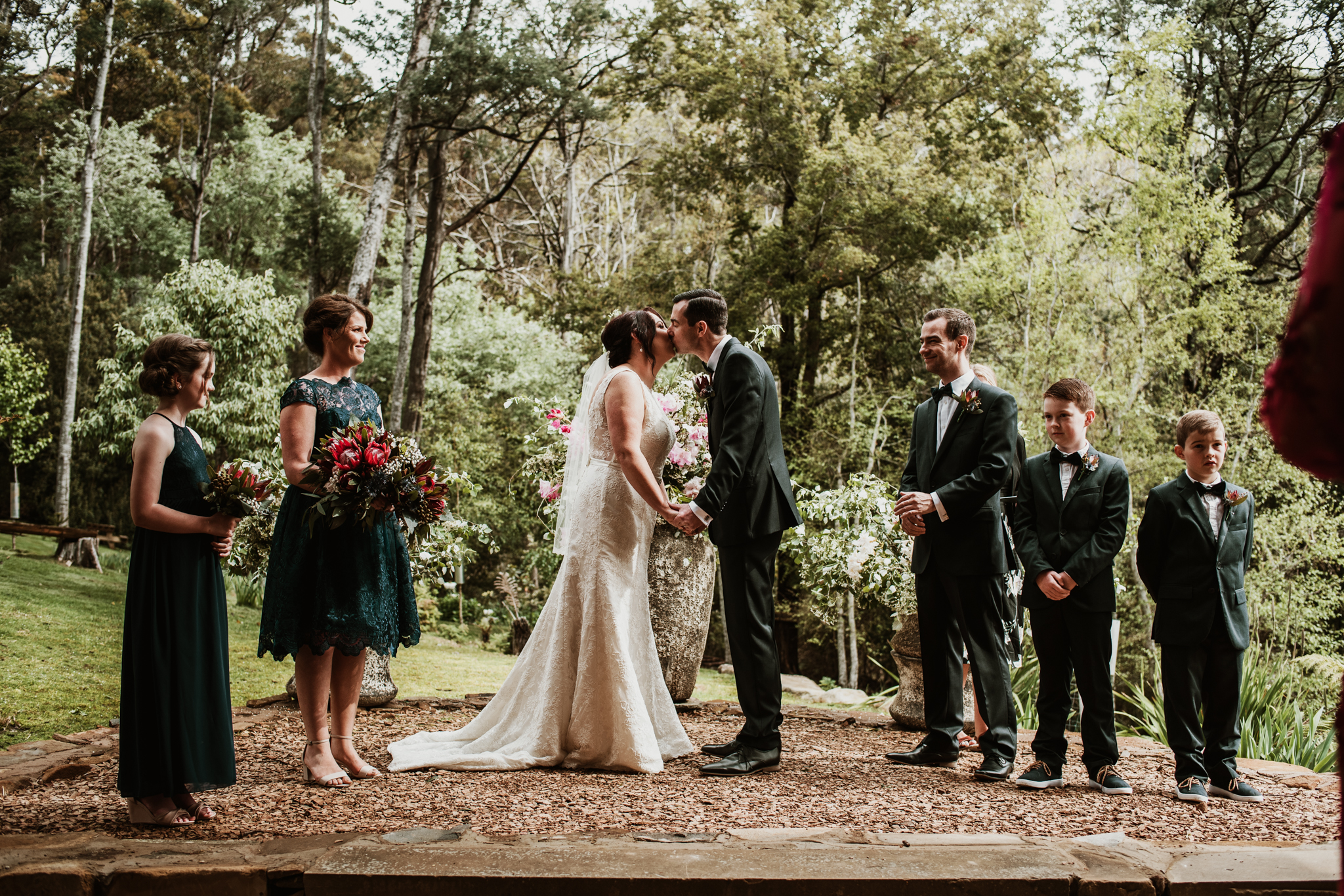 wedding at lalla flower farm, lillydale tasmania